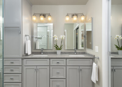 Columbia condo renovation with updated cabinetry, maximized storage, and improved lighting.