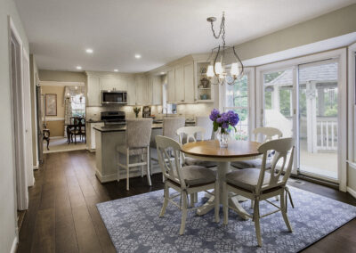Transitional style Kitchen/Breakfast Area in Howard County with a mix of wood tones and finishes.